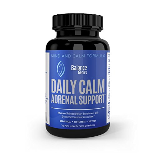 Adrenal Support Supplements - Stress Relief & Adrenal Fatigue Formula, B5, B6 (pyridoxine), B12 Vitamins - Gluten Free, Soy Free, Non-GMO, Vegetarian Capsules