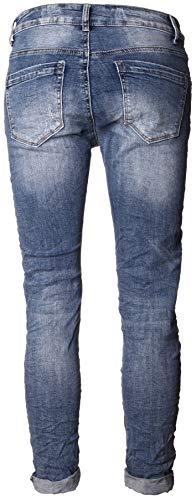 Pantalón Reißverschluss de Basic Mujer Mit Tasche Para an5qwdYq8