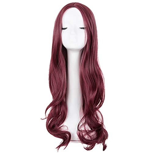 Long Curly Wig Synthetic Heat Resistant Middle Part Line Hair Costume Halloween Party Hairpiece,Bug,26IN -