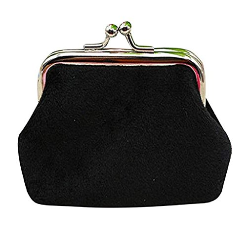 Wallet 2018 Clearance cute Corduroy Lady Noopvan Bag Wallet Black Coin wallets Hasp small Mini Purse Clutch pq4Ednw