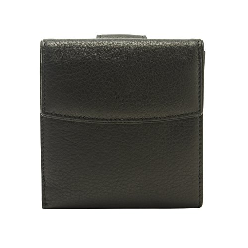 Tusk Donington Napa L-Shaped Indexer Wallet, Black, One Size ()