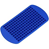 160 Small Ice Tray Frozen Cubes Trays Silicone Mold Kitchen Tool Hot Ice Cube (Blue)