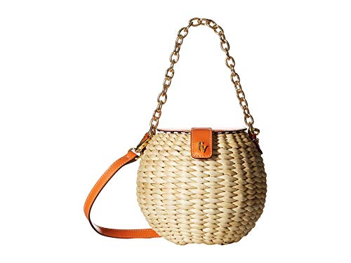 Frances Valentine Honeypot Basket Crossbody, Orange