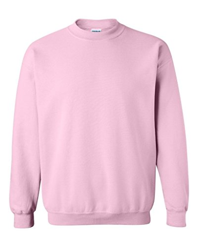 Pink Silkscreen (IZ.80 Unisex Heavy Blend Gildan CREWNECK Sweatshirt XL Light Pink)