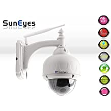 SunEyes SP-V706W-64 720P HD Wireless PTZ Dome IP Camera Outdoor 2.8-12mm Optical Zoom Auto Focus with Free 64G Micro SD Card