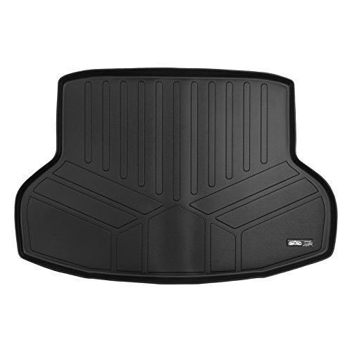 SMARTLINER All Weather Custom Fit Cargo Trunk Liner Floor Mat Black for 2016-2019 Honda Civic Sedan Only