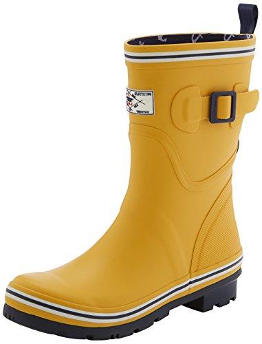 Antique Gold Footwear - Joules Women's Seafarer Rain Shoe, Antique Gold, 6 M US