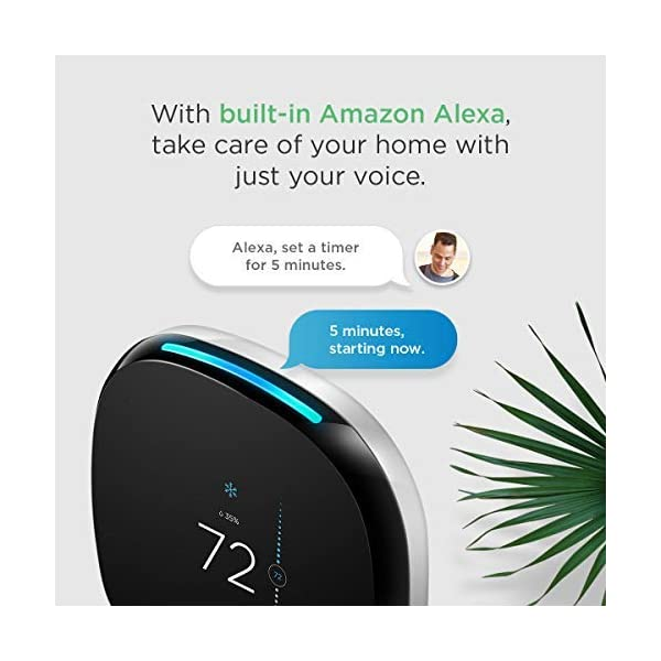 ecobee4 Smart Thermostat with Built-In Alexa, Room Sensor Included 3