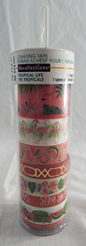Recollections Washi Tape Tropical Life Tube of 8