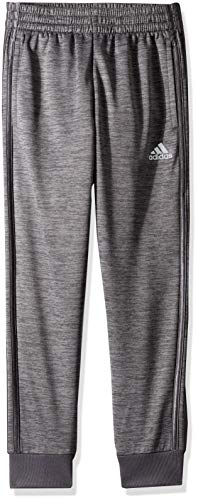 adidas Boys' Big Fleece Jogger Pant, Focus Grey Five Heather, L (14/16) (Adidas Slim Pants)