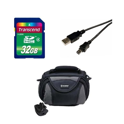 Canon Legria mini X Camcorder Accessory Kit includes: SD32GB Memory Card, SDC-26 Case, USB5PIN USB Cable by Synergy Digital