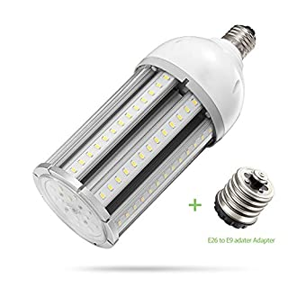 AINIYO TQW-08 36w Led Corn Bulb E26/E39 Base, 5000K Daylight 4680lm,CFL HID HPS Metal Halide Replacement(150w) for Street and Area Post Top Acorn Warehouse High Bay Garage Garden Light Super, White
