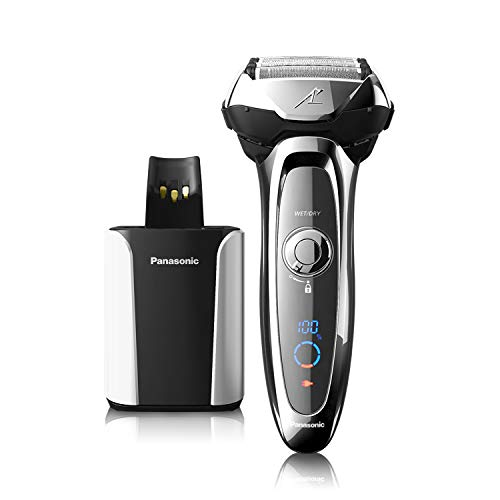 Panasonic Electric Shaver and Trimmer for Men, ES-LV95-S ARC5, Wet/Dry with 5 Blades and Flexible Pivoting Head, Includes Premium Automatic Clean & Charge - Pivoting Head Razor