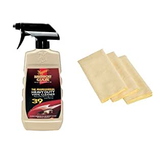 meguiar 39 s m39 mirror glaze heavy duty vinyl cleaner 16 oz with 3 amazonbasics. Black Bedroom Furniture Sets. Home Design Ideas