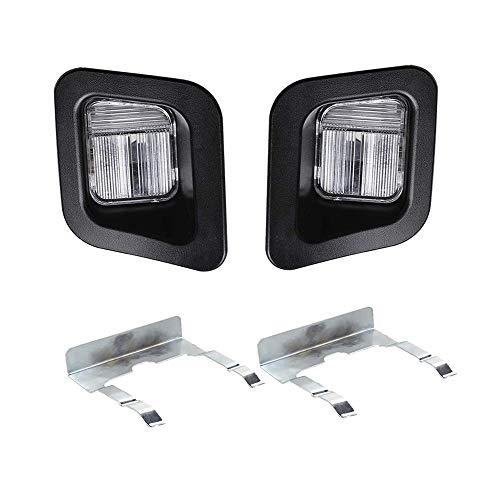 HERCOO License Plate Lights Lamp Lens Black Clips Housing Compatible with 2003-2018 Dodge Ram 1500 2500 3500 Pickup Truck Rear Step Bumper Aftermarket Replacement, Pack of 2 - License Lamp Lens