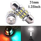 Shangyuan 31mm Marine LED Festoon Bulb for Perko Navigation Light, Boat Light Bulbs for Boat Anchor Light, Boat Navigation Lights, Mast Masthead Light, Super Bright 12 Volt Bulbs for Boat Lights 2PCS