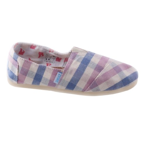 Paez Womens Folkies Canvas Alpargatas Rosa