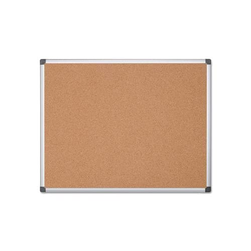 ** Value Cork Bulletin Board with Aluminum Frame, 48 x 72, Natural