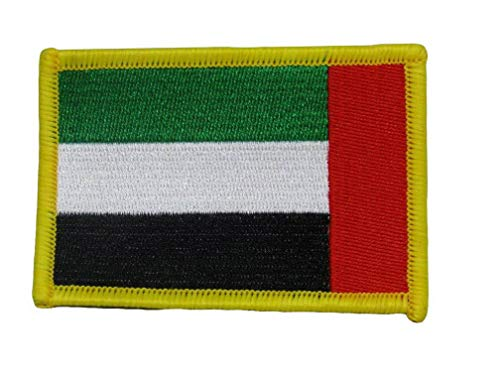 Mikash United Arab Emirates UAB Country Flag Wholesale lot of 3 Iron On Patch | Model FLG - - National Flag 3rd