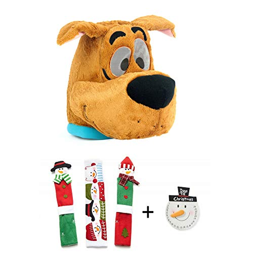 Maskimals Oversized Plush Halloween Mask - Scooby and Snowman Kitchen Appliance Handle Covers & Snowman Countdown Calendar