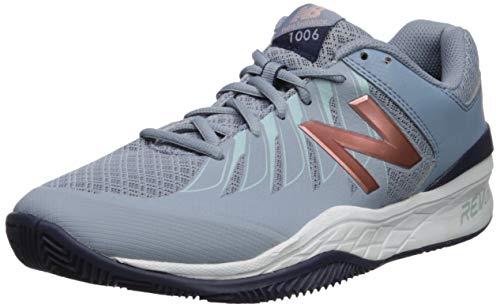New Balance Women's 1006v1 Hard Court Tennis Shoe, Reflection/Rose Gold, 8 B US
