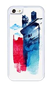 Apple Iphone 5C Case,WENJORS Uncommon This is my town Soft Case Protective Shell Cell Phone Cover For Apple Iphone 5C - TPU White