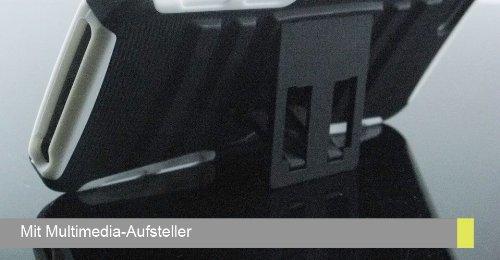 Armor-X ACS-A13-P1SBL Armor-X Outdoor Case mit 2-fach Schutz und Multimediaständer für iPhone 5 (Farbe: navy/türkis)