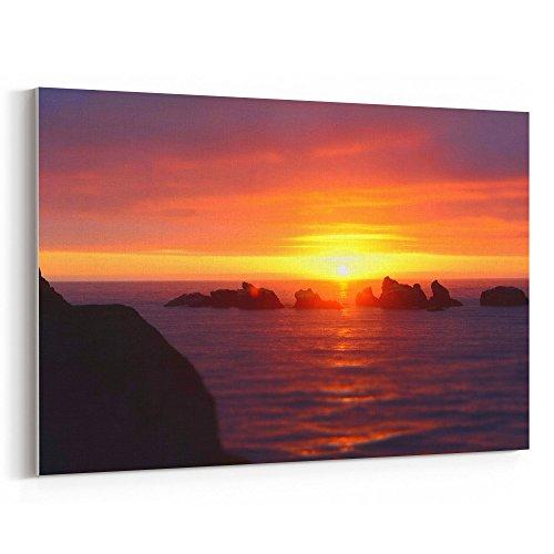 Westlake Art - Sunset Sea - 24x36 Canvas Print Wall Art - Ca