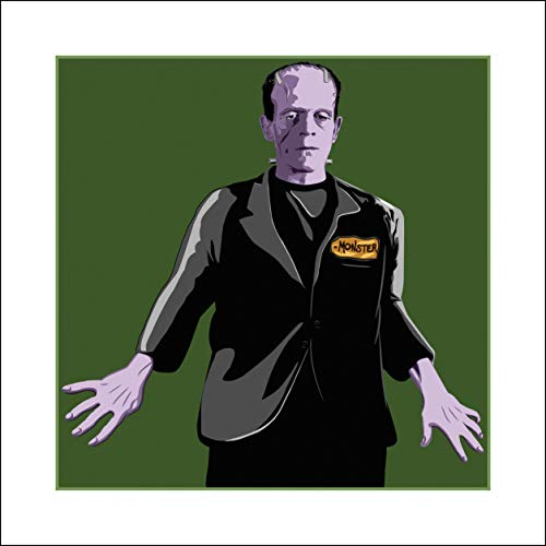 Plaid Design Frankenstein's Monster on The Price is Right Pop Art - 16x16 - Signed/Numbered Limited Edition Giclée/Fine Art Print/Artwork by John Lathrop - Ed Hand Numbered Fine Art