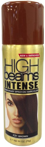 High Beams Intense Temporary Spray On Hair Color - #31 Brown 2.7 oz. (Pack of 2) -