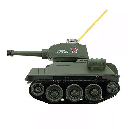 ROWEQPP 27MHZ 777-215 Mini Radio RC Battle Tank with Light Mold Toys for Kids Gift Blue Gray (Mini Battle Tanks)