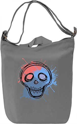 Cartoon Skull Borsa Giornaliera Canvas Canvas Day Bag| 100% Premium Cotton Canvas| DTG Printing|