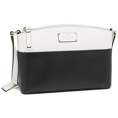 Kate Spade New York Grove Street Millie Leather Shoulder Handbag Purse (Black/Cement) by Kate Spade New York
