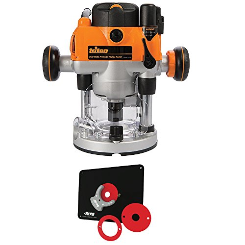 Plunge Router Reviews (Triton MOF001 2-1/4 Precision Plunge Router and Kreg Insert Plate w/ Level-Loc)
