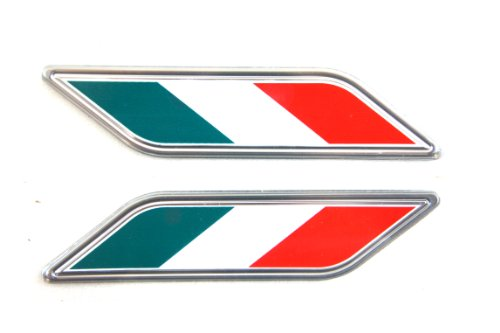 Genuine Fiat Accessories 82212879 Italy or Mexico Flag Colors Fender Badge for Fiat 500/500C -
