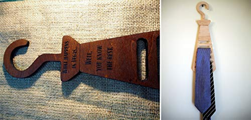 Personalized Tie Rack, Belt Hanger | Custom tie holder made of birch wood | Handmade, Comes in two colors with your personal message painted on | Men gift, dad gift, husband gift, business gift