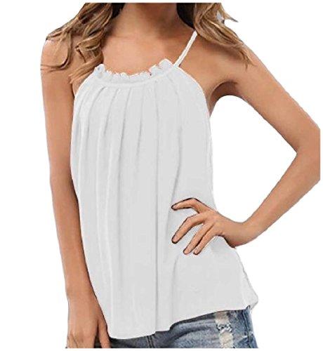 音声小川涙Tootess 女性の純粋な色のノースリーブのハイネックシャーリングシフォンタンクトップシャツ