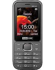 Maxcom mobiltelefon Seniorenhandy Bluetooth 2,4 tum display 0,3 MP kamera FM radio och ficklampa grå MM142 2G