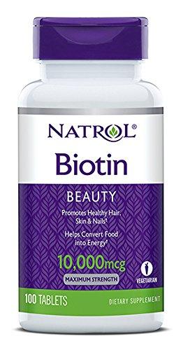 Natrol Biotin, Maximum Strength, 10,000 mcg Tablets 100 ea (Pack of 4) Review