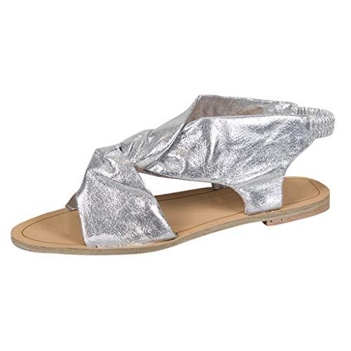 Sandali Della Fascia Piatta Casual Di Donne Sanfashion Personalità Antiscivolo Colore Pantofole Delle Argento Nuove Solido qxgxTfO7w