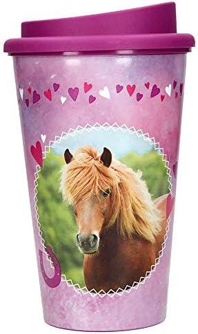 Depesche 6011 Trinkbecher to Go Horses Dreams, ca. 350 ml, bunt