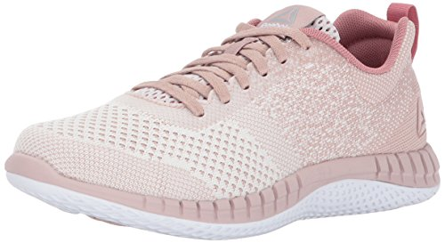 Reebok Women's Print Run Prime Ultk Track Shoe, Lilac Ash/Shell Pink/White/Sandy Rose, 7.5 M (Reebok Gym Equipment)
