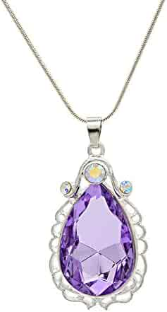 Wxbox Birthday Amulet Crystal Teardrop Necklace Fashion Jewelry Gift for Girls