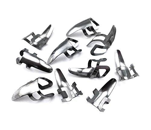 Honbay 10pcs Stainless Steel Finger Picks Adjustable Plectrums Guitar Finger Picks Thumb Picks for Guitar, Ukulele, Bass