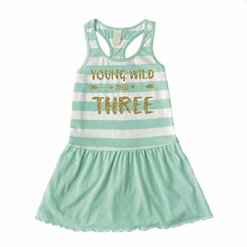 Third Birthday Outfit Girl, Three Year Old Girl Birthday Tank Dress (Toddler Girl 3rd Birthday Outfits)