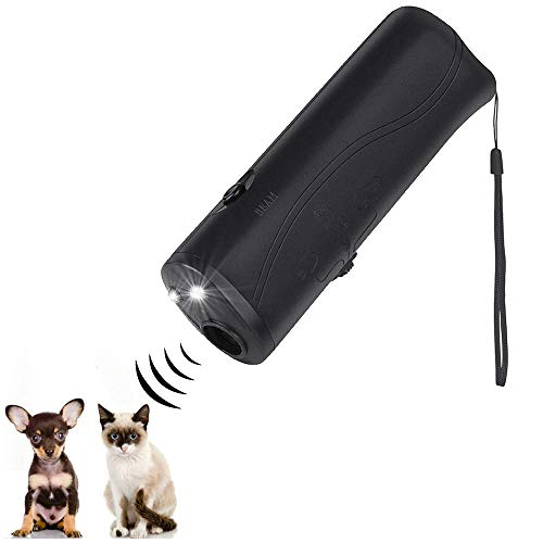 Ultrasonic Dog Repeller and Trainer Device 3 in 1 LED Pet Anti Barking Stop Bark Handheld - Barking Ultrasonic Stop