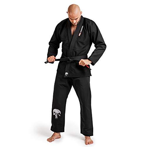 Hayabusa BJJ Gi | The Punisher Pearl Weave Ultra-Light Jiu Jitsu Gi | Men & Women | Black | A4