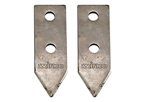Winco CO-1B, Interchangable Replacement Blade Set for CO-1 Can Opener, 2 Pieces Included, Knife for Manual Can Opener by Winco