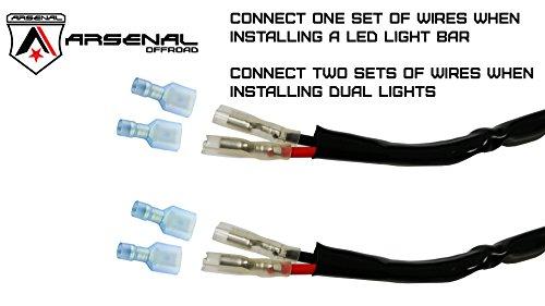ranger light bar wiring diagram ranger image amazon com 1 arsenal offroad led light bar universal wiring on ranger light bar wiring diagram
