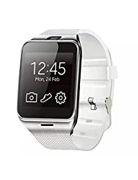 Celendi Bluetooth Smart Watch Sport Watch Camera Touch Screen for Samsung HTC Huawei Android Phone (White)